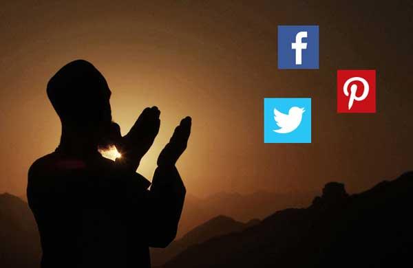 Berdoa di media sosial