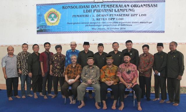 Jajaran Pengurus DPW LDII dengan Pengurus DPP LDII dan Wanhat DPP LDII