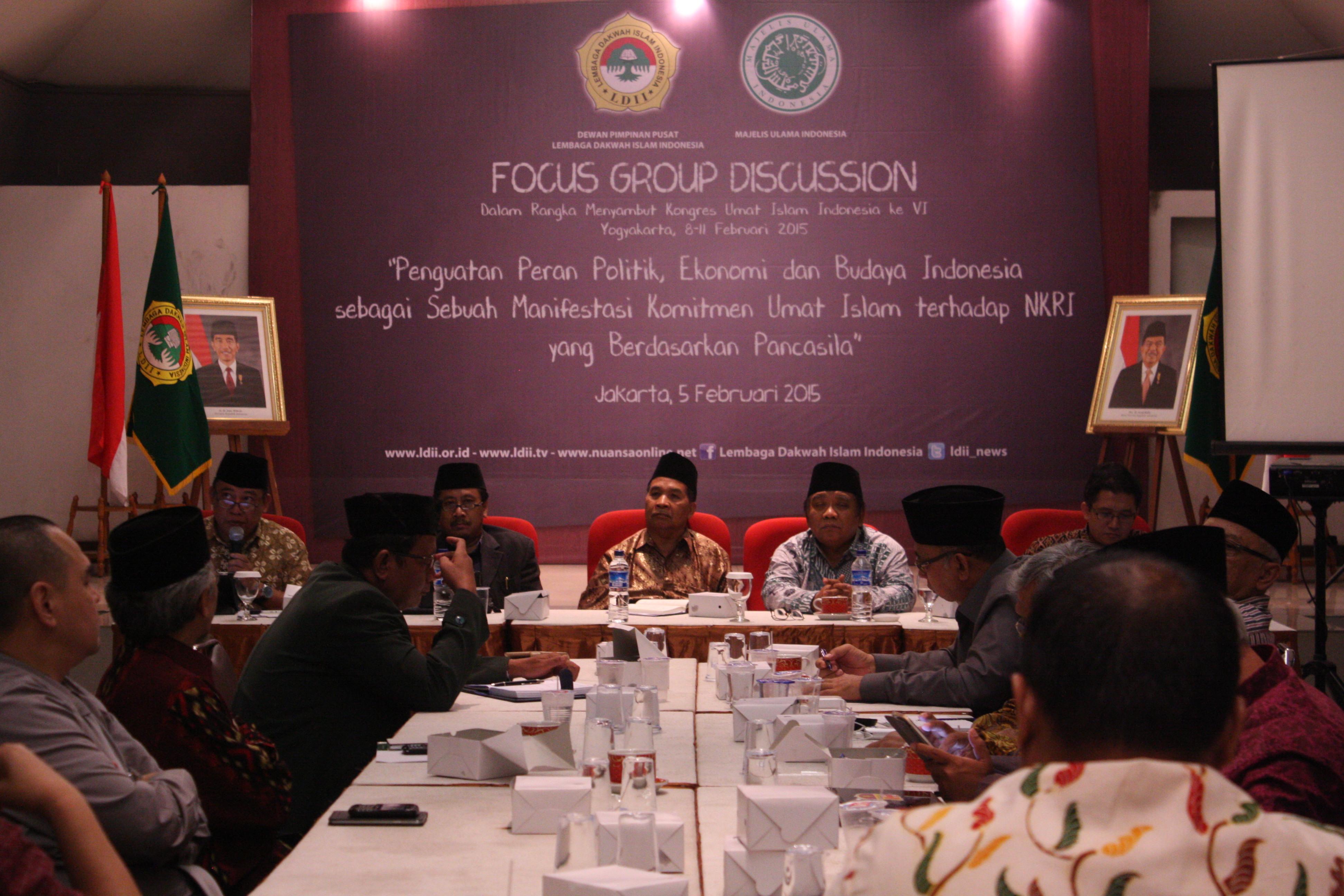 Pra Kongres Umat Islam Indonesia dalam FGD LDII
