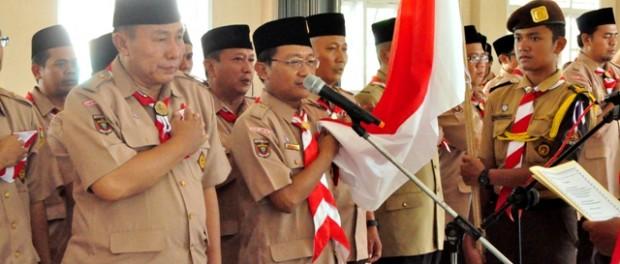 Sumpah pelantikan Sako SPN Daerah Lampung