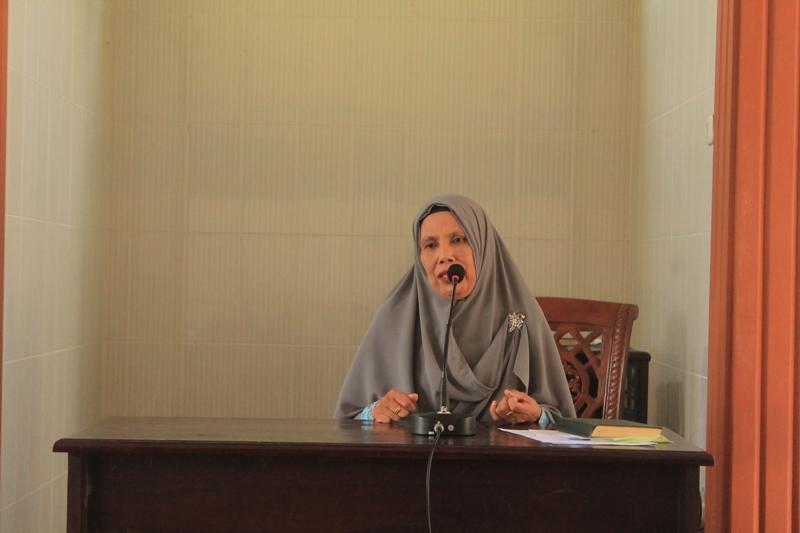 Lurah Rajabasa Jaya memberikan ceramah untuk warga LDII Rajabasa, Bandar Lampung