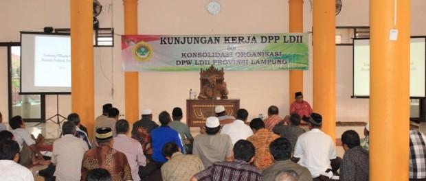 kunker dan konsolidasi dpw ldii provinsi lampung