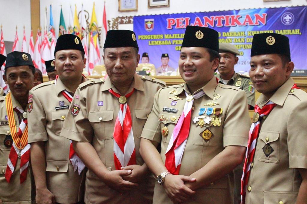 Kak Heri Sensustadi bersama Ketua Kwarda Lampung Kak Ridho Ficardo