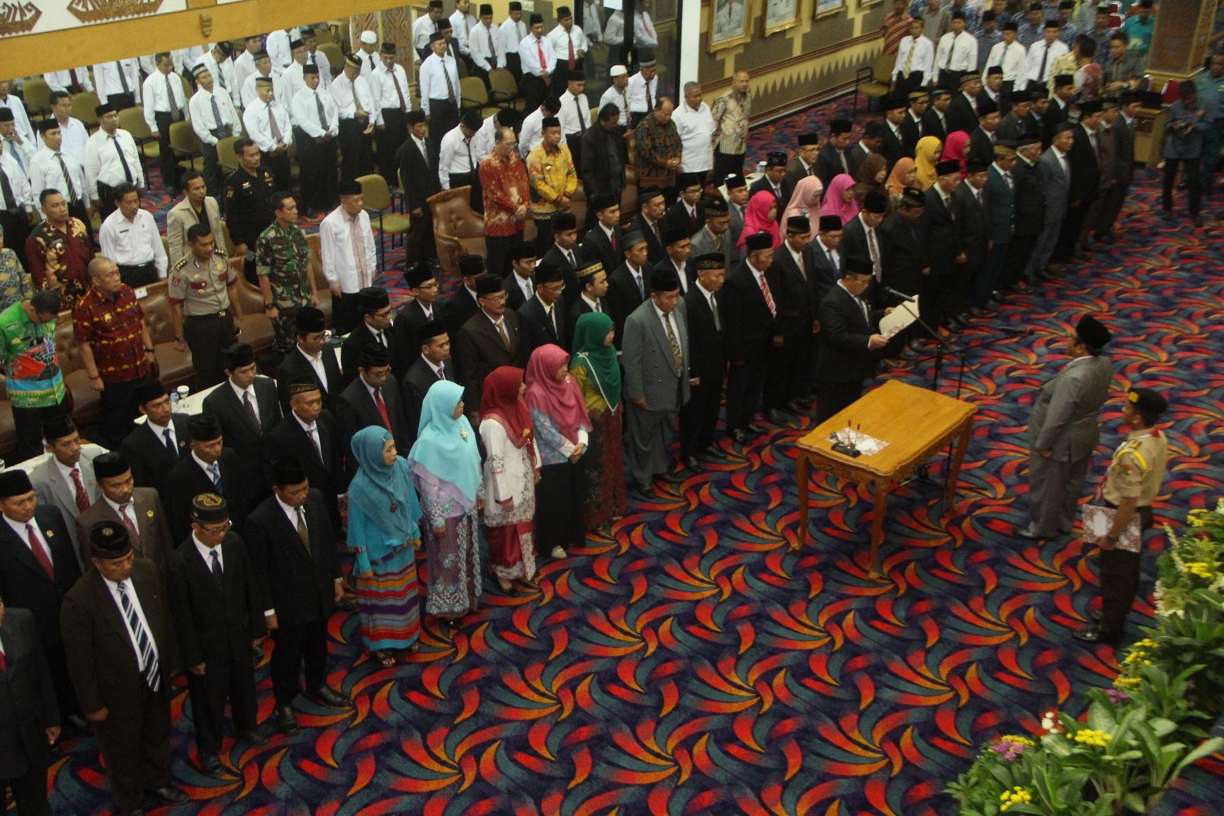 pelantikan pengurus DPW LDII Prov Lampung di Balai Keratun Lampung