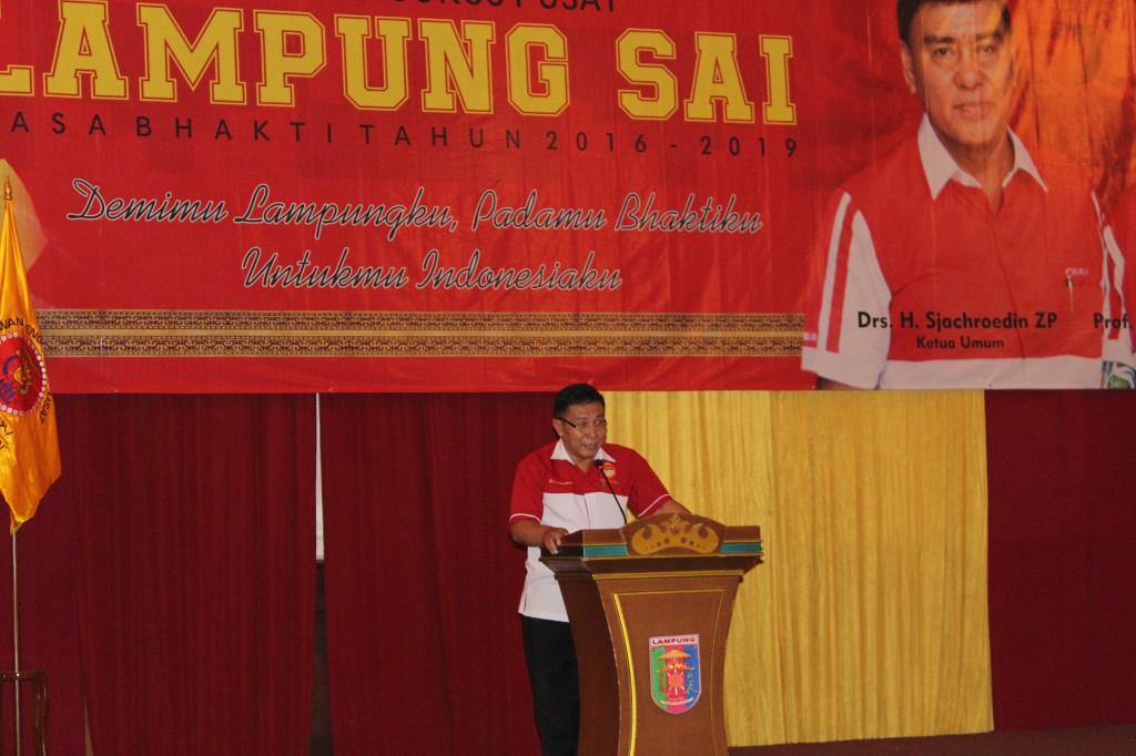 Drs H Heri Sensustadi yang merupakan Sekretaris DPW LDII Prov Lampung juga Sekretaris MUI menutup doa