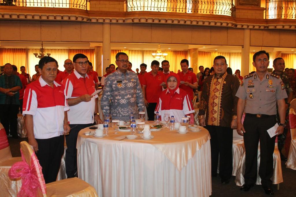Jajaran pimpinan Lampung Sai bersama tamu undangan