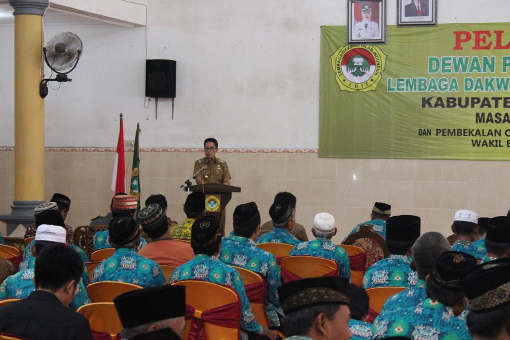 Wakil Bupati Lamtim memberikan arahan pada pengurus terpilih ldii lampung timur
