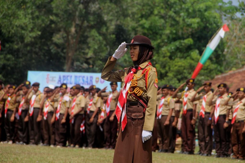 Upacara HUT Pramuka se Provinsi Lampung di Tulang Bawang Barat