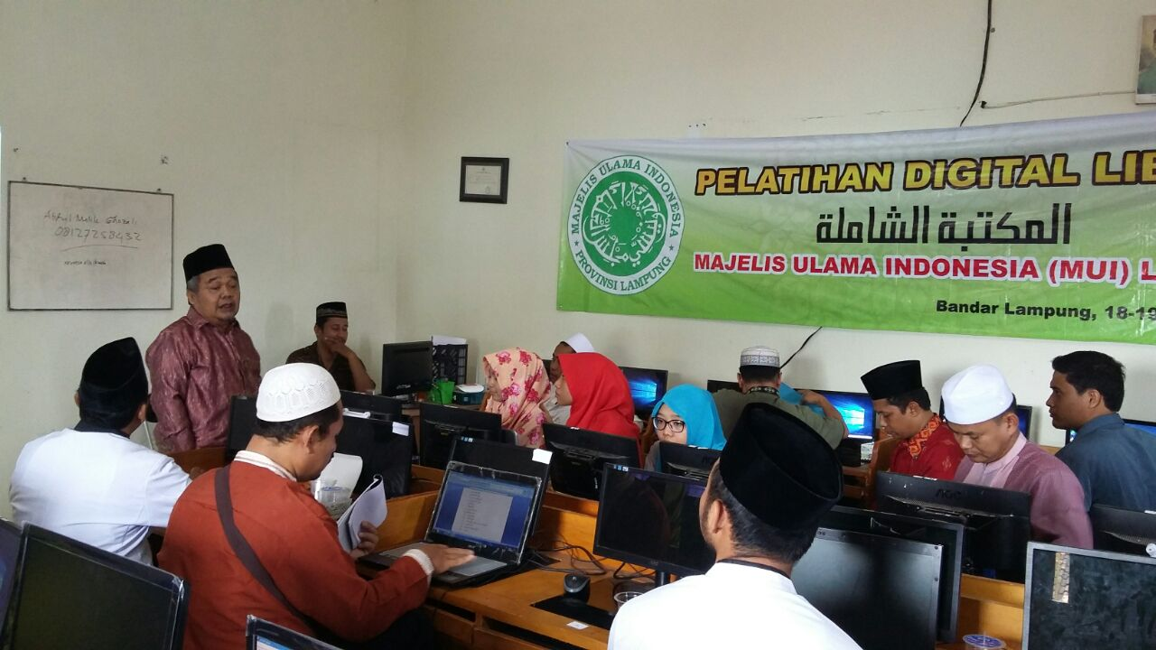 Penutupan Pelatihan Digital Library MUI Lampung