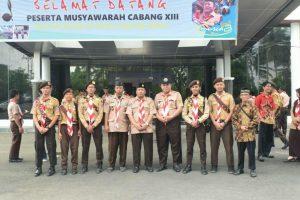 Pramuka Garuda SAKO SPN Lampung bersama Pinsakoda dan Pembina