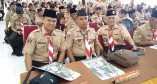 Sekretaris Pinsako SPN Tk. Daerah Lampung bersama Ka Kwarcab Lampung Selatan dan Ka Kwarcab Lampung Tengah pada acara Rakerda Kwarda Lampung 2017
