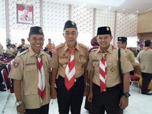 Sekretaris SAKO SPN Lampung bersama Waka Bidang Binawasa Kak Abdullah RM, dan Ka Kwarca Lamsel Kak Sukadi MS