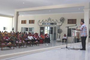 Oedin beri sambutan pada pengurus MPAL, Lampung Sai dan FOKMAL