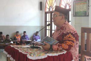 dr Aditya memberikan pengarahan pada konsolidasi organisasi LDII Lampung