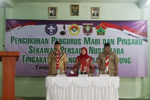 Kakwarcab Bandar Lampung bersama Pinsakoda Lampung dan Sekretaris Sakonas