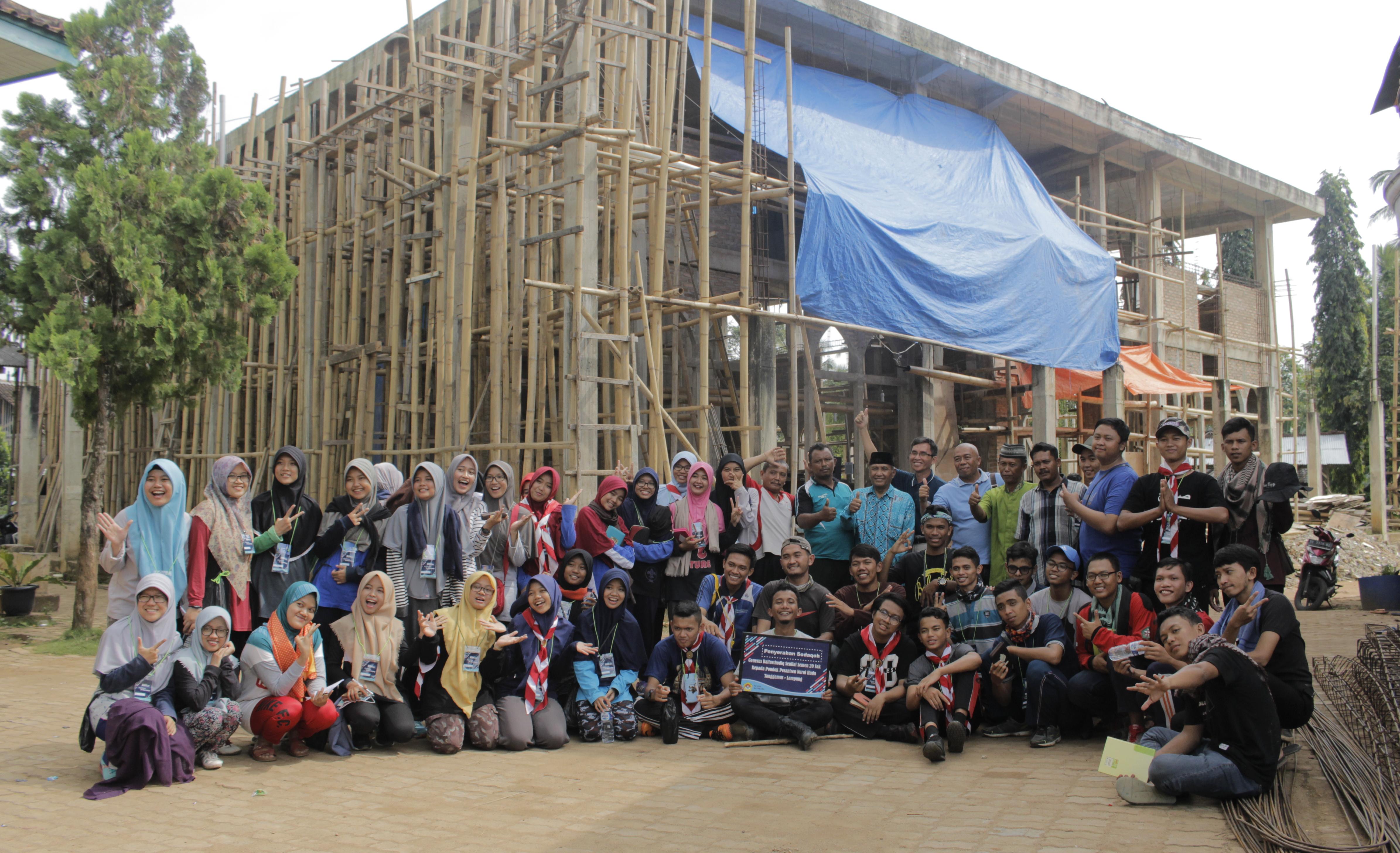 100 Mahasiswa LDII Lampung Gelar Bakti Sosial dan Pelayanan Kesehatan
