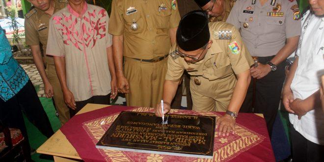 Wakil Bupati Tanggamus Samsul Hadi meresmikan masjid LDII di Pekon Kalisari, Wonosobo, Tanggamus