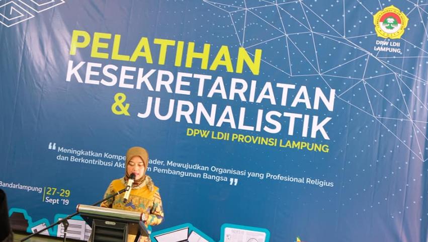 pelatihan jurnalistik ldii dibuka langsung oleh wakil gubernur lampung